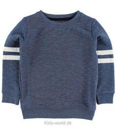 Koin Bluse - Blåmeleret m. Striber - Børnetøj med fri fragt.