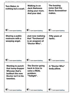 Cards Against Humanity- Doctor Who Edition