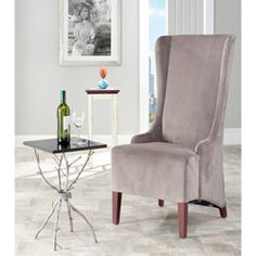 @Overstock.com - Safavieh Deco Bacall Velvet Dark Minky Grey Side Chair - Recharge your energy after a stressful day while sitting in this relaxing side chair. Perfect for your dining area or in a living room, the chair features comes in grey with a velvet, suede-like fabric that gives it a dark- and light-grey look.  http://www.overstock.com/Home-Garden/Safavieh-Deco-Bacall-Velvet-Dark-Minky-Grey-Side-Chair/6007923/product.html?CID=214117 $242.99