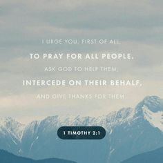 I urge, then, first of all, that petitions, prayers, intercession and thanksgiving be made for all people— for kings and all those in authority, that we may live peaceful and quiet lives in all godliness and holiness. 1 Timothy 2:1-2 #pray #godblesstheusa