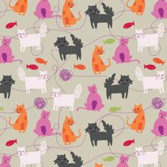 Arrolynn Weiderhold - I love the different tail textures.     http://www.arrolynn.com/#patterns-cards-and-spots/10
