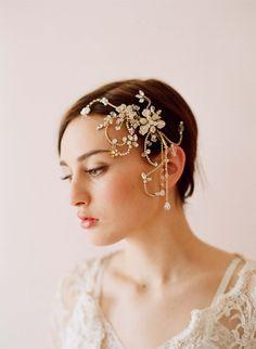 Twigs & Honey Wedding Headpieces – Dazzling twisted rhinestone and ...