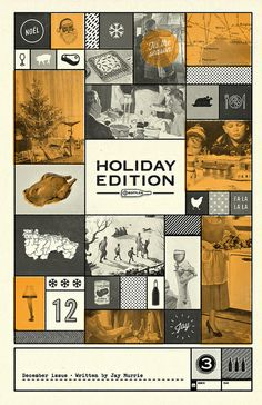 Cover design for holiday issue of 3Bottles by mattlawsondesign, via Flickr