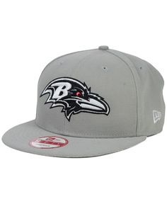 248d0e5e8c089c New Era Baltimore Ravens Gray Black White 9FIFTY Snapback Cap Black And  White Logos