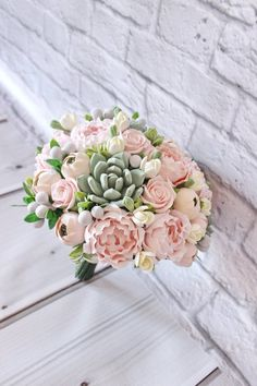 + WEDDING FLOWERS + Pink peony Various marriage ceremony bouquet Memento bridal bouquet Succulent bo Peony Bouquet Wedding, Peonies Bouquet, Pink Peonies, Blush Bouquet, Wedding Bouquets With Succulents, Bridal Bouquets, Purple Bouquets, Flower Bouquets, Yellow Roses