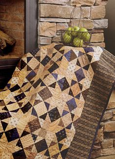 I love star quilts; nice, simple color scheme on this one.