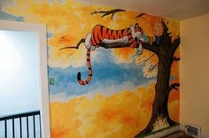 Calvin Hobbes wall bbi Pinterest Walls Wall murals and Room