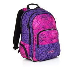 258f1dc2a19a7 Fiolet i róż w plecaku młodzieżowym HIT 861 I - Violet. Topgal Plecaki