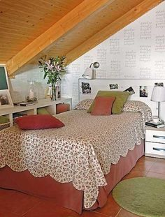 House Decorating Ideas | How to Arrange a Bed for the Bedroom in the Attic