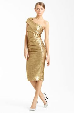 Donna Karan Collection One Shoulder Sequin Dress available at #Nordstrom