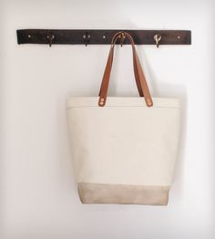 Cotton Canvas Tote Bag -- Waxed Bottom | Women's Bags & Accessories | Munie Designs | Scoutmob Shoppe | Product Detail