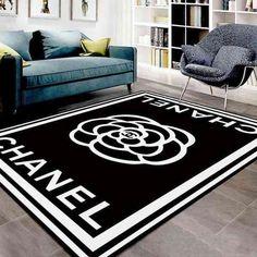 Chanel Logo Black And White Living Room Carpet Living Room Rugs Collections Living Room Flooring, Living Room Carpet, Rugs In Living Room, Room Rugs, Area Rugs, Dyi, Black And White Living Room, Black White, Best Decor