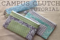 The Campus Clutch - bag pattern - Sew Modern Bags Bag Patterns To Sew, Sewing Patterns Free, Free Sewing, Free Pattern, Clutch Bag Pattern, Wallet Sewing Pattern, Clutch Purse, Coin Purse, Sewing Projects For Beginners