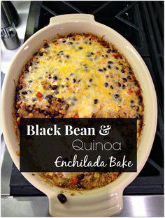 Home of Malones: Taste of Tuesday : Black Bean and Quinoa Enchilada Bake