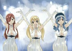 Erza, Lucy et Juvia