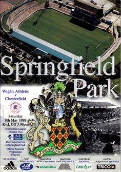Match programme from the last game at Springfield Park, Wigan Athletic v Chesterfield, 8th May 1999.
