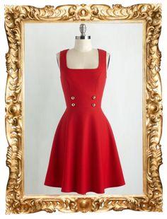 Delightfully Charming Dress in Ruby - $54.99