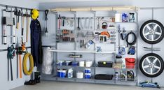 storage shelves and shelving systems for garage