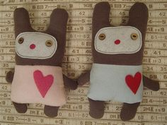 Cute Fabric Dolls by skubach, via Flickr