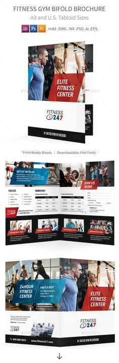Trifold Fitness Gym Brochure Psd  Brochures Fitness And Gym