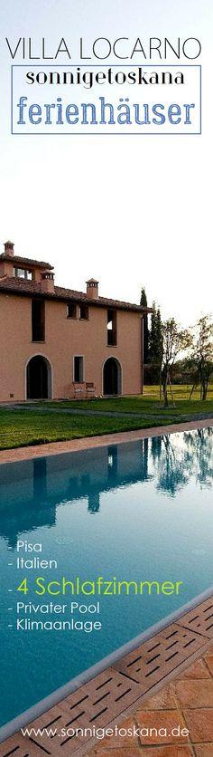 Villa Locarno - Ferienhaus in Pisa, Italien. 4 Schlafzimmer, Privater Pool, Klimaanlage #sonnigetoskana #toskana #ferienvilla #luxusvillen #urlaub #italienurlaub