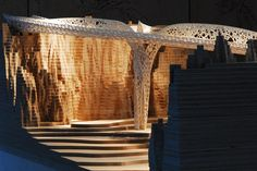 Architectural Model - Tonkin Liu with Ed Clark, Shell Lace Structure/Proposal for Shi Ling Bridge