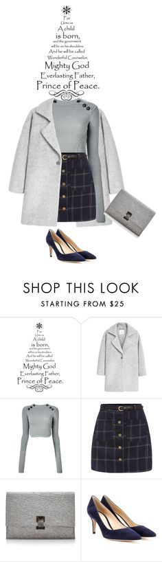 """""""Christmas Eve"""" by saraishi ❤ liked on Polyvore featuring MANGO, Isabel Marant, Proenza Schouler and Gianvito Rossi"""