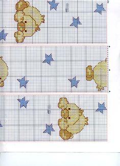 Schema punto croce Pulcino stelle 1