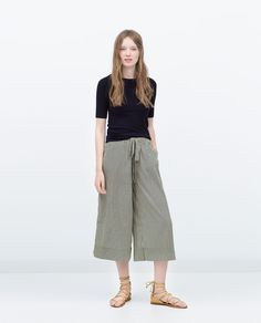 ZARA - WOMAN - LOOSE CROPPED TROUSERS