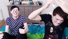 the way phil looks at him and just plainly reacts to dan being dan
