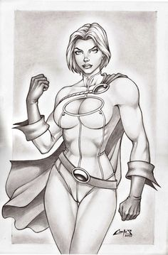 POWER GIRL !!! by Carlos Braga