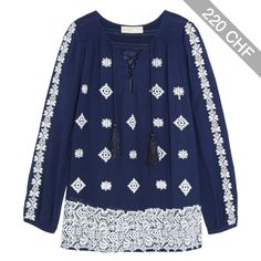 MICHAEL Michael Kors Embroidered georgette blouse