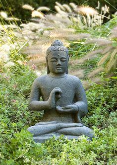 Indonesian Seated Buddha cast stone Buddha statue made by Campania International