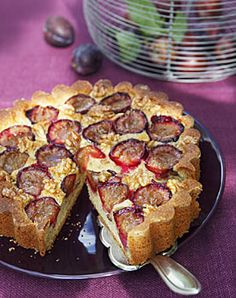 Zwetschgenkuchen mit Orange und Walnüssen