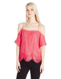 5e62955c782d2 Women s Cynthia Lace Off The Shoulder Top - Pink - CK12O7EX54A