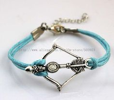 The Hunger Games Jewelry Katniss Big Arrow Long Lariat Bracelet with Candle Line Wholesale 120pcs/lot Free Shipping