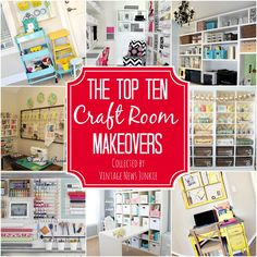 Awesome Inspiration & Organization Ideas for a Craft Room #organization #craftroom {Vintage News Junkie}