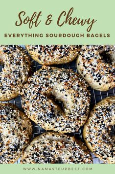 Sourdough Everything Bagels – Namaste Upbeet Sourdough Bagels, Sourdough Recipes, Bread Recipes, Bagel Ingredients, Sourdough Starter Discard Recipe, Bagel Recipe, Everything Bagel, Food Print, Favorite Recipes