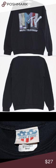 "Urban Outfitters Junk Food MTV Sweatshirt Size S Urban Outfitters Junk Food Classic MTV logo crewneck Sweatshirt Size Small. Approximate measurements- armpit to armpit: 19"" Length: 24.5"" Urban Outfitters Tops Sweatshirts & Hoodies"