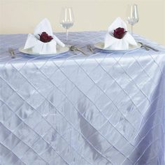 x Lavender Taffeta Pintuck Rectangular Tablecloth Chair Covers, Table Covers, Tablecloth Sizes, Tablecloths, Lavender Wedding Decorations, Table Overlays, Unicorn Party Supplies, Banquet Tables, Wedding Linens