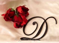 Black Monogram Wedding Cake Topper - Custom A-Z Letter Cake Toppers, Monogram Cake Toppers, Personalized Wedding Cake Toppers, Wedding Vows, Wedding Cakes, Wedding Inspiration, Wedding Ideas, Wedding Stuff, Monogram Letters