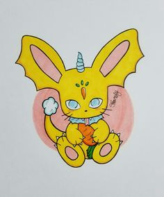 Some Copic Marker practice. Meet Bunny Dragon!