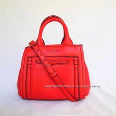 Kate Spade Crossbody Handbag Claremont Drive Liana Maraschino Red Leather New