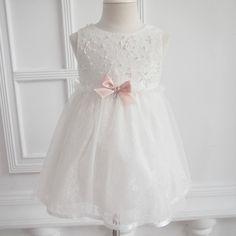 Antonia Taufkleid Festkleid Hochzeitskleid Blumenmädchenkleid Ivory-Weiß: Amazon.de: Bekleidung