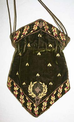 Reticule (image 2)   French   early 19th century   silk, metal, glass   Metropolitan Museum of Art   Accession Number: C.I.59.4