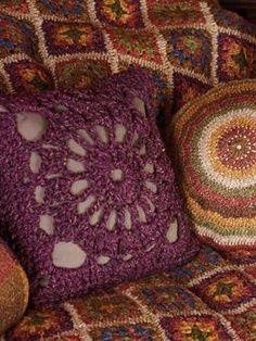 almohadon cuadrado crochet
