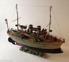 Marklin Tin Boat Battleship Windup Clockwork Cruiser Märklin Schiffe BATEAU | eBay
