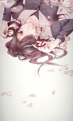 Anime girl. Sinking or Floating?