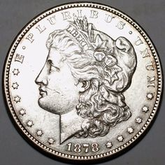1878-CC $1 Morgan Silver Dollar-MS, details-Carson City-Free USA Shipping
