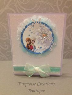 Frozen Card-Handmade All Occasions by TurquoiseCreationsBo on Etsy